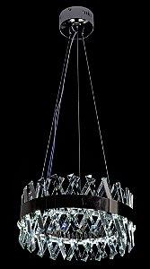 Pendent 40cm Cristal Led 50w 6000k 5000lm