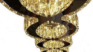 Pendente 105×20cm Cristal Led 60w 3000k 4000k 6000k 3200lm Controle Bivolt