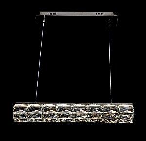 Pendente 62cm Cristal Led 40w 3000k 4000k 6000k 2000lm Controle Bivolt