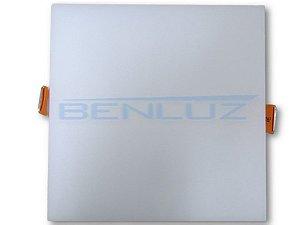 Painel Plafon Quadrado de Embutir sem borda 18W - Branco Frio