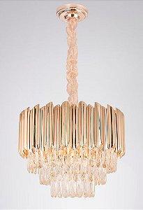 Pendente 62cm Cristal E14×15
