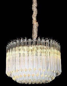 Pendente 48cm Cristal E14×8 Cromado
