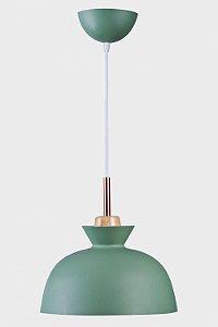 Pendente 25×30cm Verde+dourado E27