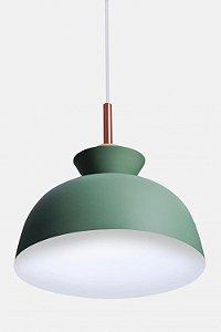 Pendente 28×25cm Verde+branco E27