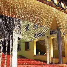Cortina de LED Fixo 500 LEDs Fio Branco 3x2,5 metros Branco morno 220V
