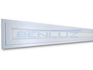 Painel Plafon LED 24W 08x122 Retangular embutir Branco Frio