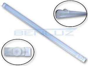 Lâmpada Tubular LED 7W com calha e sensor de presença T8 60cm Branco Frio