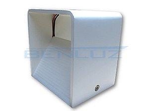 Luminária LED Arandela 5W Cubo Branco Frio 6000K