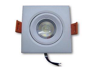 Mini Spot de LED 7W Quadrado de Embutir Branco Frio