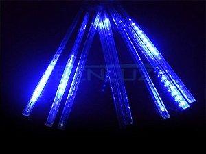 Tubo LED Snow Fall Individual 1 Metro Azul Bivolt