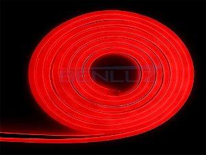 Mangueira Neon De LED Flexível 12V Rolo com 50 Metros Vermelho