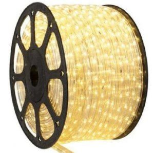 Mangueira Redonda de LED 5050 - Rolo com 100 Metros - Branco Morno
