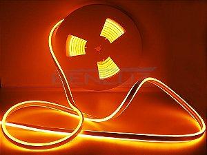 Mangueira Neon de LED Dupla 5 Metros Laranja 12V