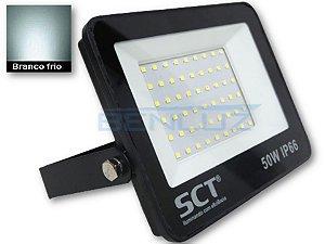 Refletor Holofote De LED 50W Slim Branco Frio A Prova d'água