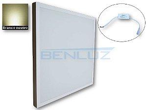 Luminária Painel Plafon LED 45W de Sobrepor 60x60 Branco neutro