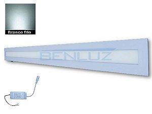 Luminária Painel Plafon LED 30W de Embutir 10x122 Branco Frio