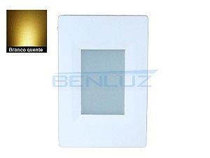 Balizador de Parede de LED 2W Branco Quente Bivolt