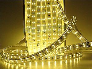 Mangueira chata dupla LED 12,5W/M Branco Quente com silicone por metro 220V