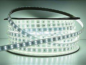 Mangueira chata dupla LED 12,5W/M Branco Frio com silicone por metro 220V