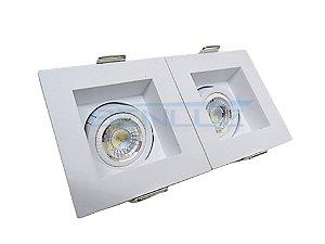Spot Recuado Duplo Branco Para Mini Dicroica MR11 LED Medidas 07 x 14cm