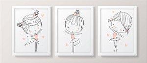 Conjunto de Quadros - Bailarina Bebê