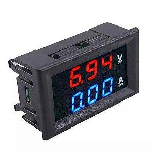 Voltimetro e Amperímetro Digital DC 100V /100A c/ Shunt
