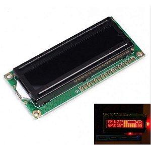Display LCD 16X2 com caracteres vermelhos