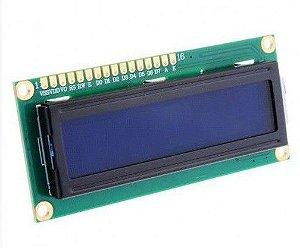 Display LCD 16X2 com Backlight – Fundo Azul