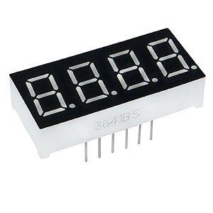 Display 7 Seg. (4 Dígitos) - 0,36 Pol. Anodo Comum
