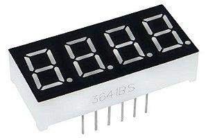 Display 7 Seg. (4 Dígitos) - 0,36 Pol. Catodo Comum, (Kit com 2 Peças)