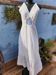 Vestido Flor da Vida Branco