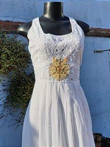 Vestido Mandala da Prosperidade Branco (modelo único) GG