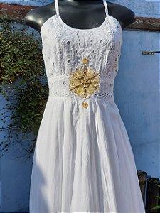 Vestido Mandala da Prosperidade Branco (modelo único) M