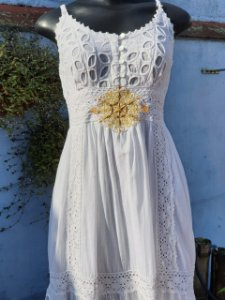 Vestido Mandala da Prosperidade Branco (modelo único) P