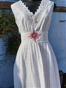 Vestido Paz universal Branco (modelo único) P