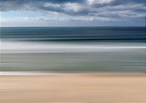 Fotografia em longa exposição do mar