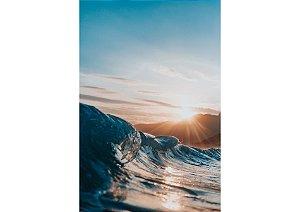 Pôr do sol contrastando com ondulação