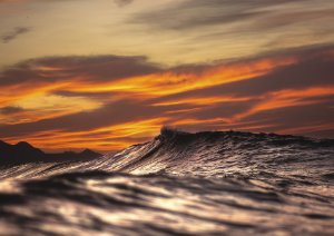 Sunset em fotografia aquática