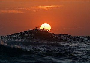 Nascer do sol em fotografia aquática