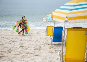 Boleiro na praia da cor