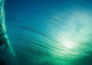 Texturas da água no mar