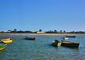 Barcos na Praia da Guarda do Embaú em Palhoça