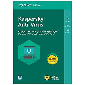 Kaspersky Anti-Virus - 3 dispositivos, 1 ano - 2020 - (Frete Grátis - Envio Digital)