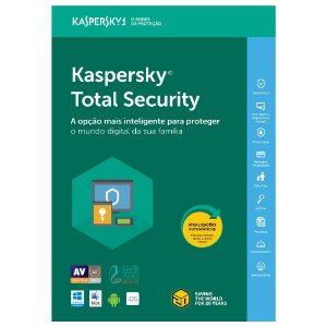 Kaspersky total security - 1 dispositivo, 1 ano - 2020 - (Frete Grátis - Envio Digital)