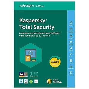 Kaspersky Total Security - 3 Dispositivos, 1 ano - (Frete Grátis - Envio Digital)