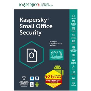 Kaspersky Small Office Security 7 - 25 Dispositivos + 25 Mobile + 3 Servidores + 25 Password Managers - 1 ano - (Frete Grátis - Envio Digital)
