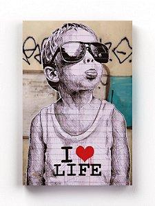 Quadro I Love Life