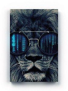 Quadro Leão Óculos