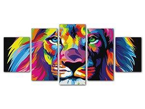 Tela Mosaico Leão Color
