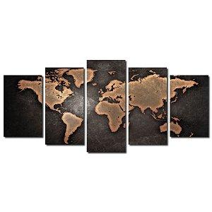 Mapa Mundi (Mosaico 5 peças)